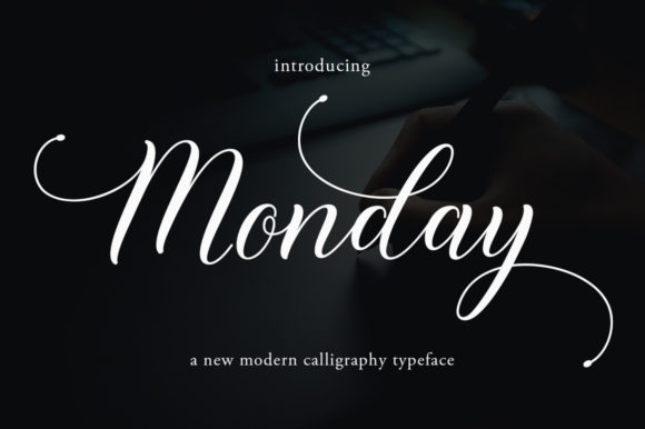 Print on Demand: Monday Script & Handwritten Font By Greentype