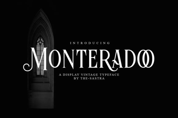 Print on Demand: Monteradoo Display Font By The-sastra