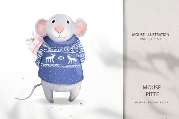 Mouse Pitte / New Year 2020 Graphic Illustrations By sto-va