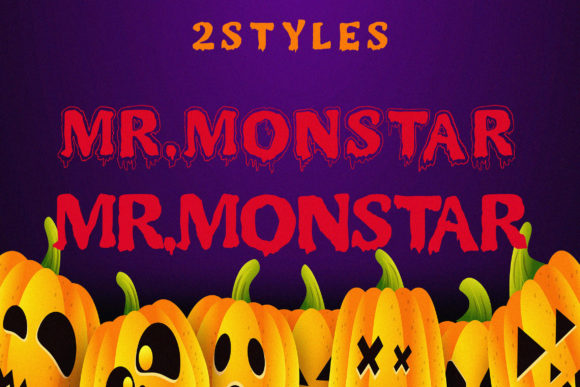 Print on Demand: Mr. Monstar Display Font By Juncreative - Image 2