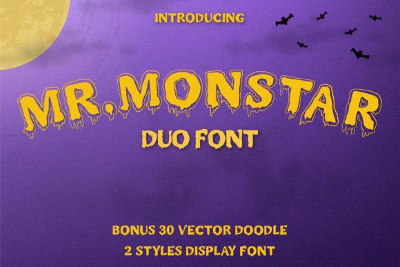 Print on Demand: Mr. Monstar Display Font By Juncreative - Image 1