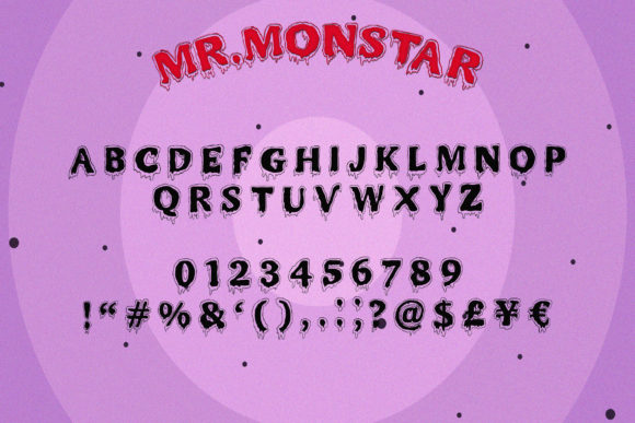 Print on Demand: Mr. Monstar Display Font By Juncreative - Image 7