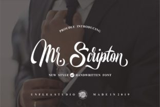 Mr. Scripton Font By Unflea Studio