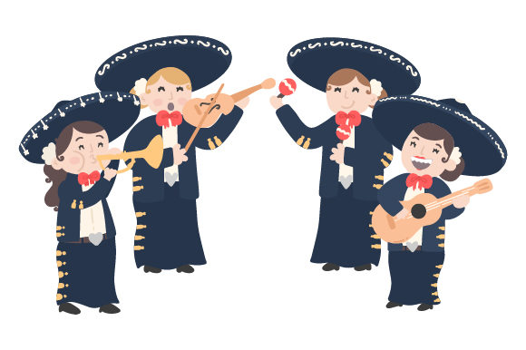 Mariachi Ladies Mexico Craft Cut File By Creative Fabrica Crafts - Image 1