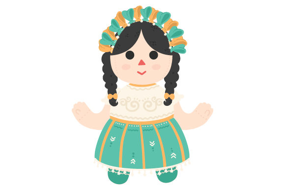 Download Free Mexican Doll Svg Cut File By Creative Fabrica Crafts Creative for Cricut Explore, Silhouette and other cutting machines.