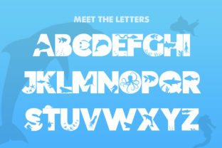 Print on Demand: Ocean Display Font By Salt and Pepper Fonts 2