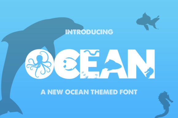 Print on Demand: Ocean Display Fuente Por Salt & Pepper Designs