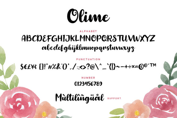 Print on Demand: Olime Script & Handwritten Font By Grezline Studio - Image 5