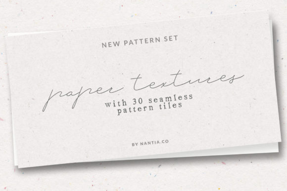 Print on Demand: Paper Textures Seamless Tiles Pack Graphic Textures By nantia