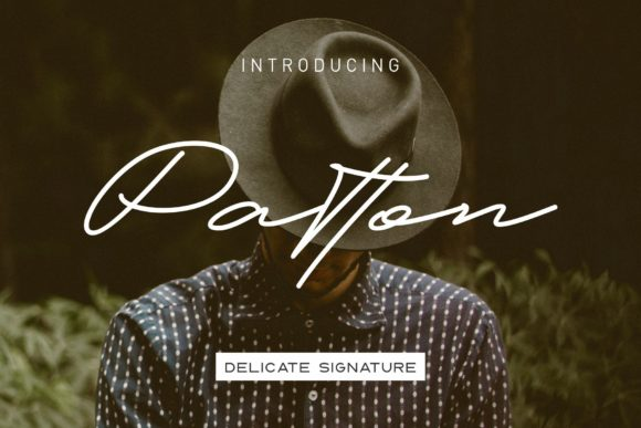 Print on Demand: Patton Script & Handwritten Font By dennidenko