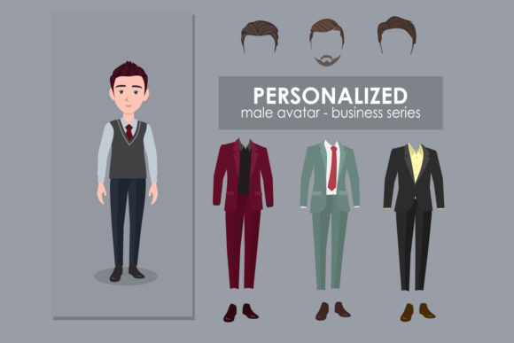 Print on Demand: Personalized Male Avatar Graphic Illustrations By kudocreative