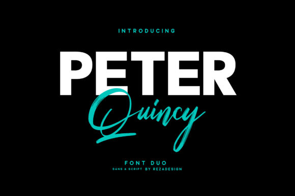 Print on Demand: Peter Quincy Script & Handwritten Font By Grezline Studio