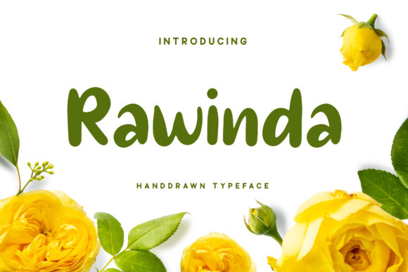 Print on Demand: Rawinda Script & Handwritten Font By RezaDesign