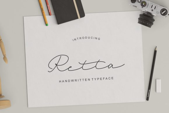 Print on Demand: Retta Script & Handwritten Font By dennidenko