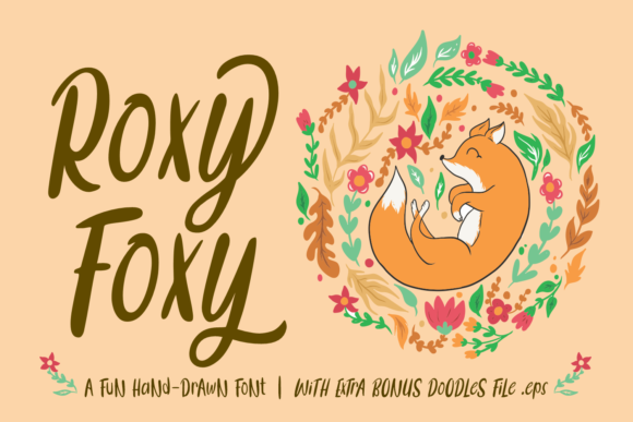 Print on Demand: Roxy Foxy Script & Handwritten Font By Dreamink (7ntypes)