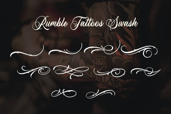 Print on Demand: Rumble Tattoos Script & Handwritten Font By Blankids Studio - Image 6