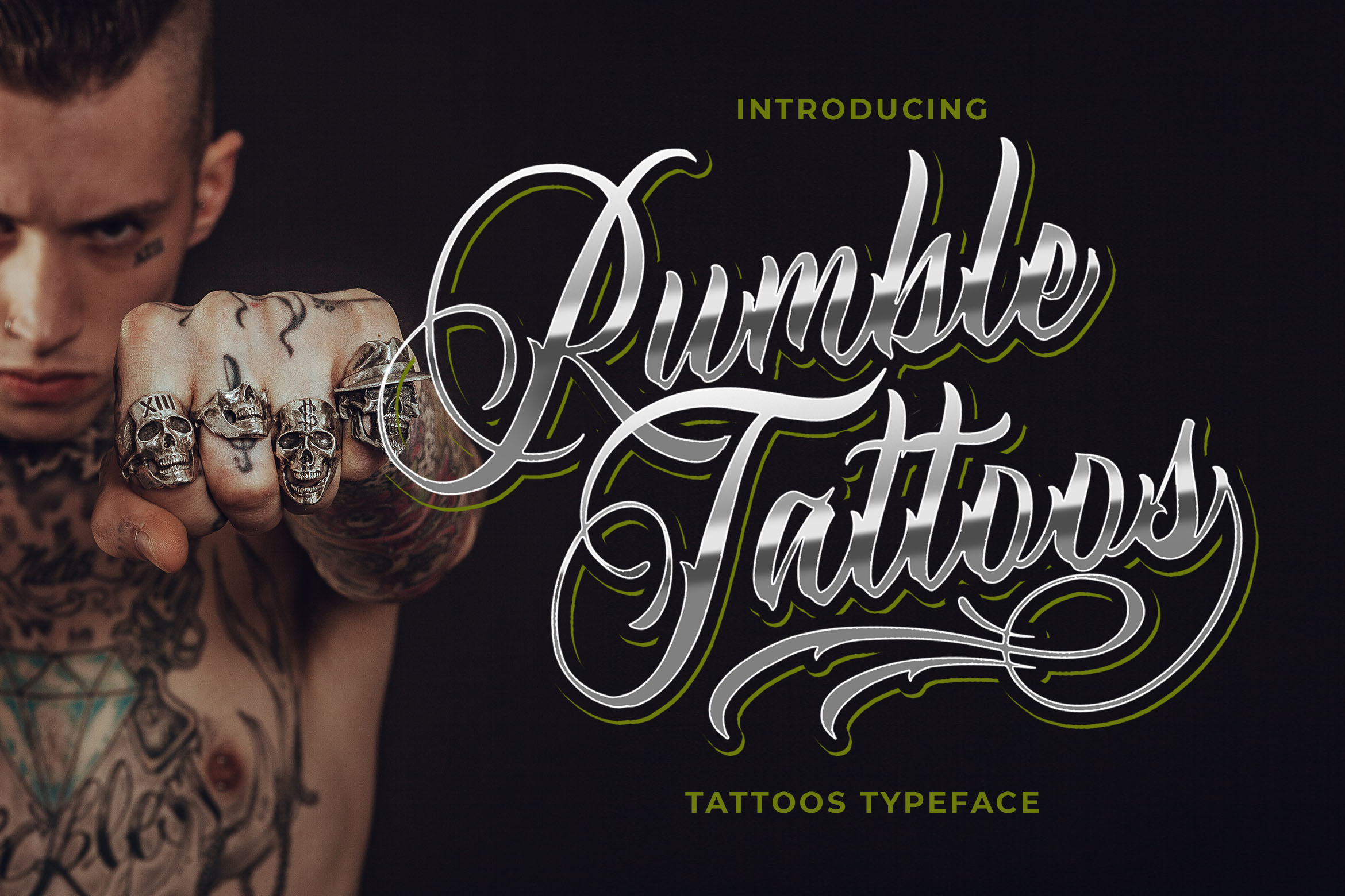 Download Free Rumble Tattoos Font By Blankids Studio Creative Fabrica for Cricut Explore, Silhouette and other cutting machines.