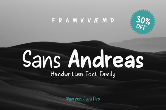 Print on Demand: Sans Andreas Sans Serif Font By JavaPep