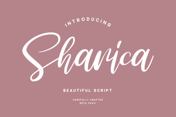 Print on Demand: Sharica Script & Handwritten Font By Grezline Studio