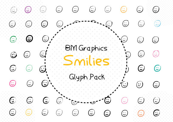 Print on Demand: BM Graphics - Smilies Dingbats Font By GraphicsBam Fonts