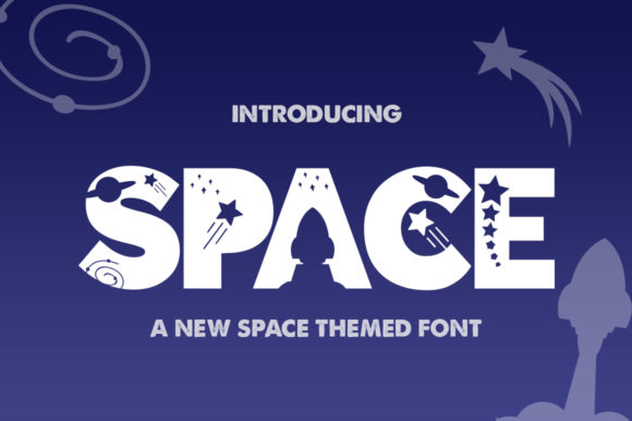 Print on Demand: Space Display Font By Salt & Pepper Designs