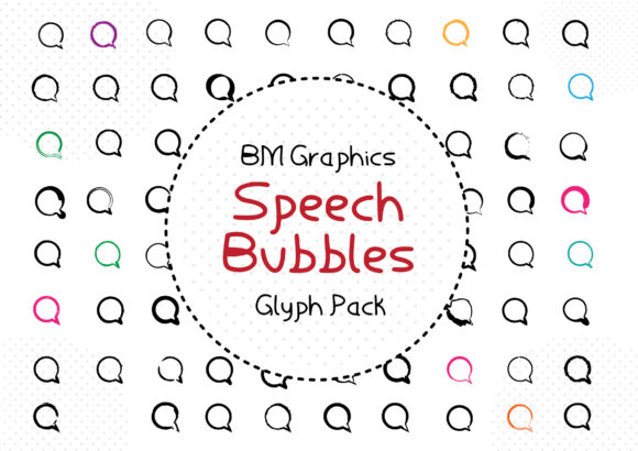 Print on Demand: BM Graphics - Speech Bubbles Dingbats Font By GraphicsBam Fonts