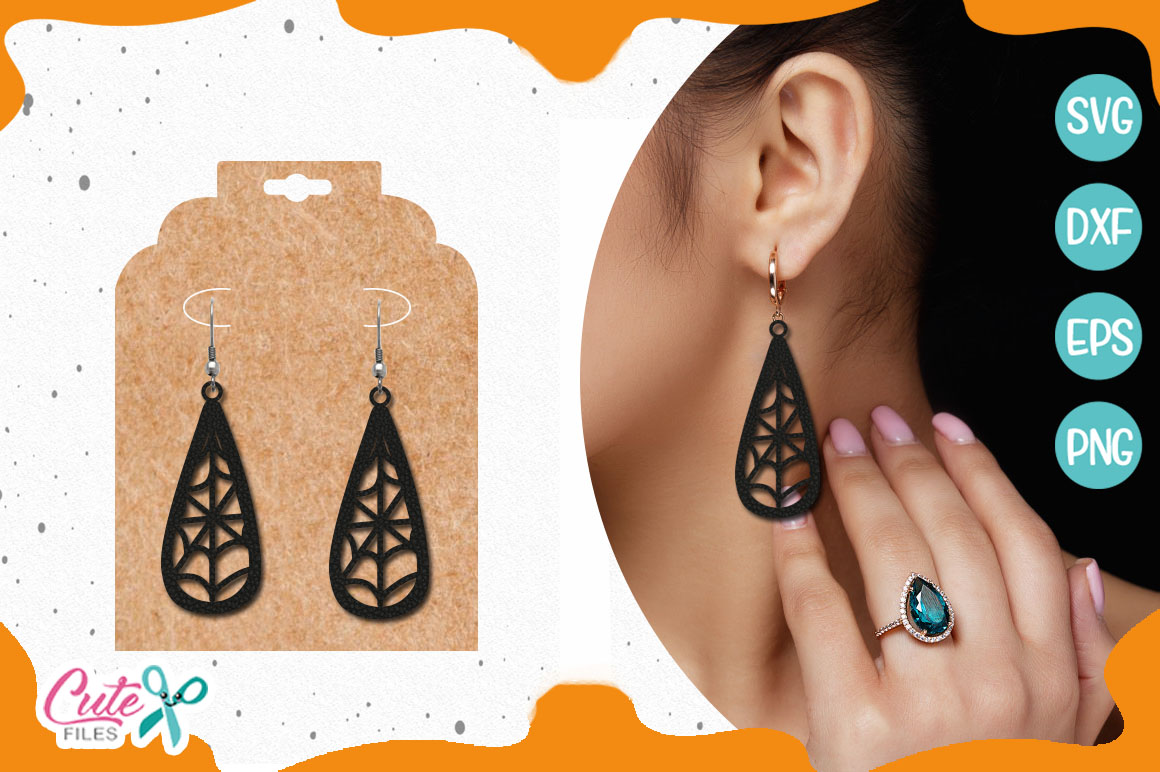 Download Free Spider Earring Template Svg Cut File Graphic By Cute Files for Cricut Explore, Silhouette and other cutting machines.