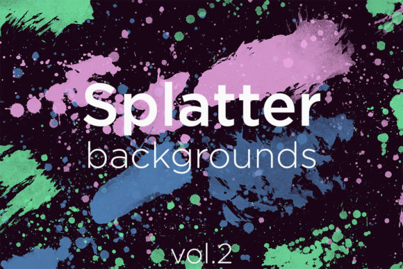 Print on Demand: Splatter Backgrounds 2 Graphic Backgrounds By freezerondigital - Image 1