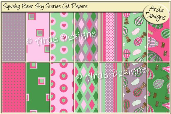 Download Free Squishy Bear Sky Stories Cu Paper Graphic By Arda Designs for Cricut Explore, Silhouette and other cutting machines.