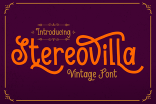 Stereovilla Font By Dreamink (7ntypes)
