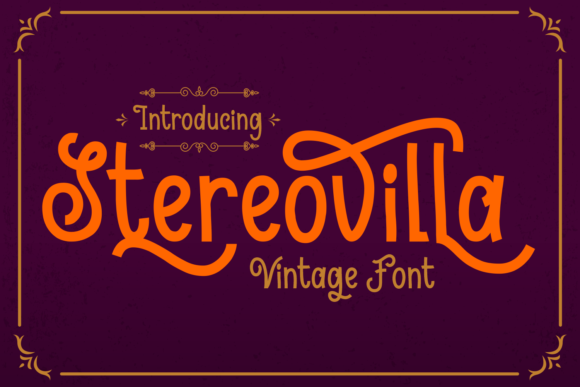 Print on Demand: Stereovilla Script & Handwritten Font By Dreamink (7ntypes)