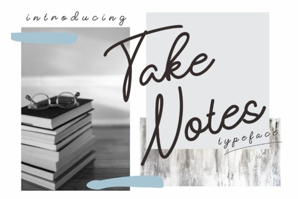 Print on Demand: Take Notes Script & Handwritten Font By dennidenko