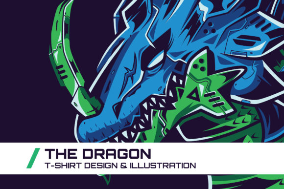 Download Free The Dragon T Shirt Illustration Graphic By Dankudraw Creative for Cricut Explore, Silhouette and other cutting machines.