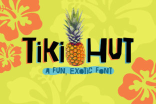 Tiki Hut Font By Reg Silva Art Shop