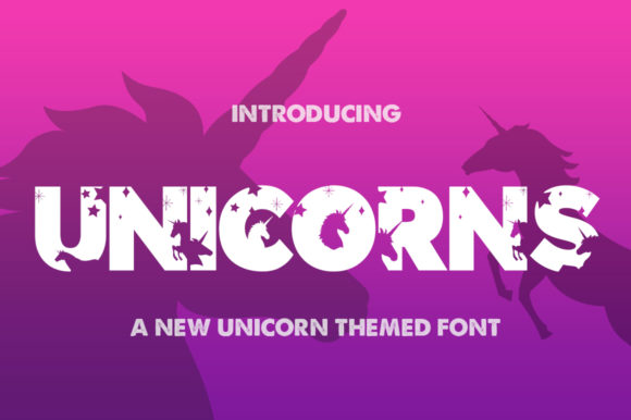 Print on Demand: Unicorns Display Font By Salt & Pepper Designs
