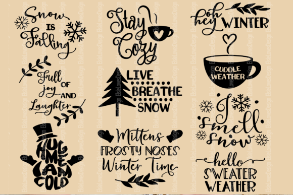 Download Free Winter Quote Bundle Graphic By Elsielovesdesign Creative Fabrica for Cricut Explore, Silhouette and other cutting machines.