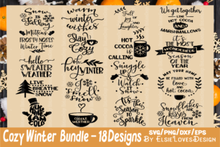 Winter Quote SVG Bundle Graphic By ElsieLovesDesign