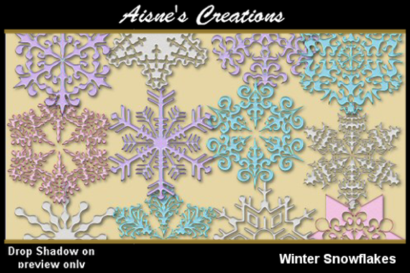 Print on Demand: Winter Snowflakes Graphic Objects By Aisne - Image 1