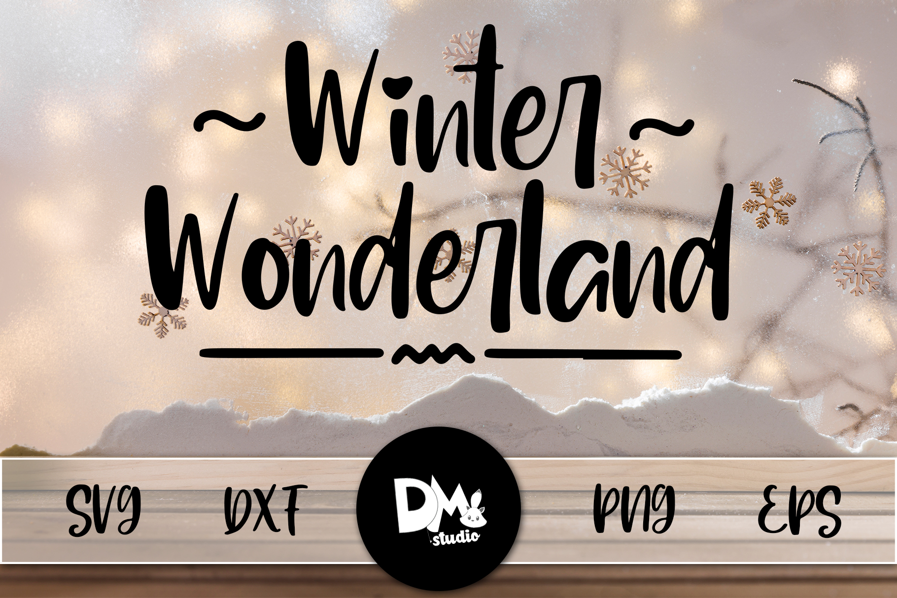 Download Free Winter Wonderland Graphic By Sharon Dmstudio Creative Fabrica for Cricut Explore, Silhouette and other cutting machines.