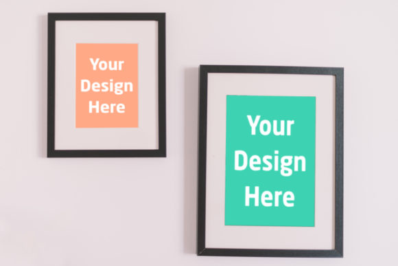 Print on Demand: 2 Frames on Wall Graphic Product Mockups By Outflow Designs
