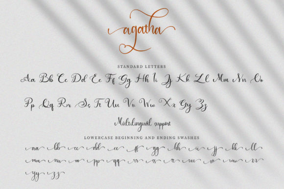 Print on Demand: Agatha Script & Handwritten Font By Juncreative - Image 8