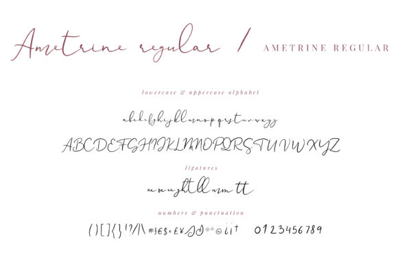 Print on Demand: Ametrine Script & Handwritten Font By Primafox Design - Image 2