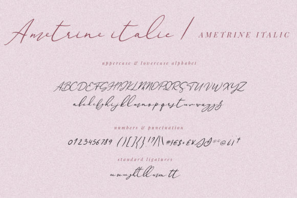 Print on Demand: Ametrine Script & Handwritten Font By Primafox Design - Image 3