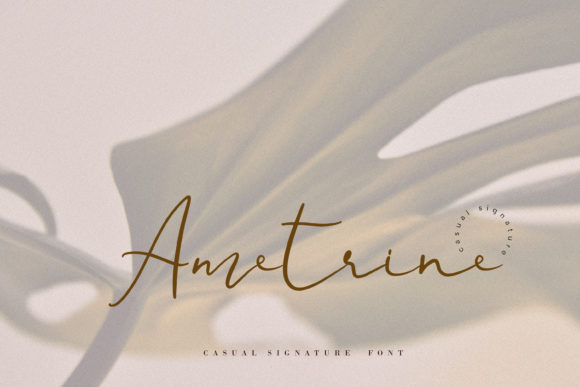 Print on Demand: Ametrine Script & Handwritten Font By Primafox Design