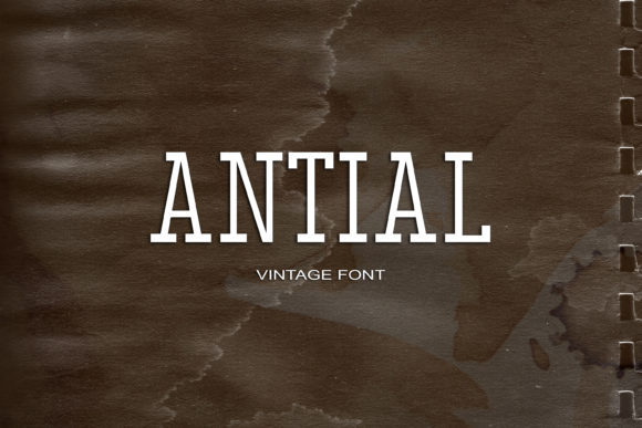 Print on Demand: Antial Serif Font By maxim.90.ivanov