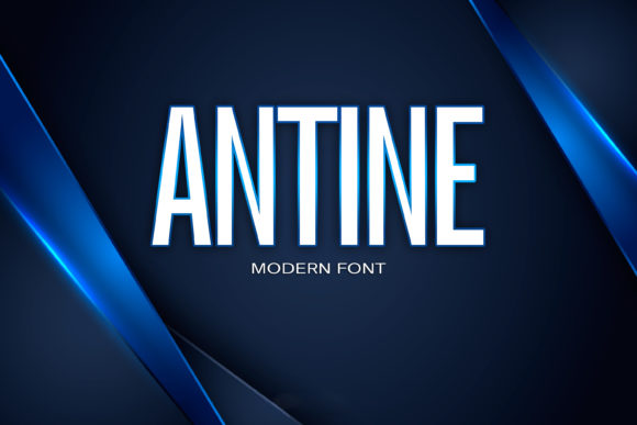 Print on Demand: Antine Sans Serif Font By maxim.90.ivanov