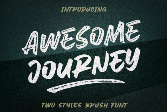Print on Demand: Awesome Journey Display Font By Subectype