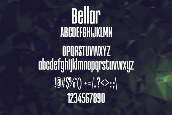 Print on Demand: Bellar Sans Serif Font By maxim.90.ivanov - Image 2