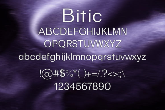 Print on Demand: Bitic Sans Serif Font By maxim.90.ivanov - Image 2