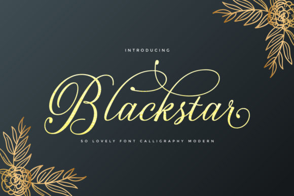 Print on Demand: Blackstar Script & Handwritten Font By Cooldesignlab